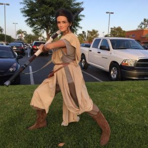 Female Jedi star wars character rental in San francisco Bay area, Los angles, Orange county