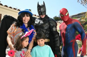 Spidey and Batman birthday party character rental